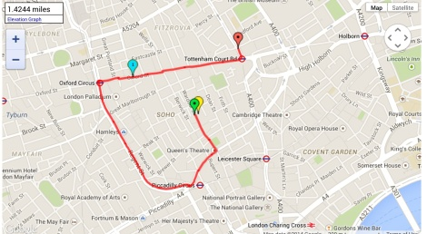 My crazy route