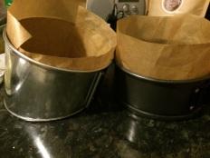 Preparing the tins