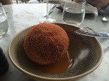 Spiced Ox Cheek doughnut